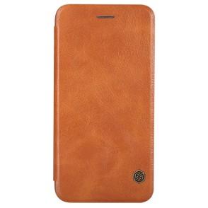 Δερμάτινη θήκη-πορτοφόλι QIN Leather by Nillkin καφέ για iPhone 6/6s Plus (200-101-131)