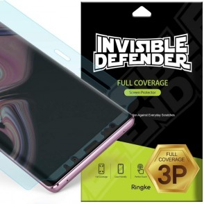 Ringke Invisible Defender Full Coverage Screen Protector Samsung Galaxy Note 9  3 τεμάχια (200-103-032)