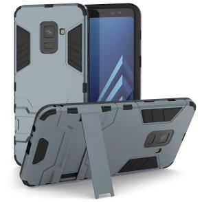 Caseflex θήκη Armour Combo Stand Samsung Galaxy A8(2018) - Blue και δώρο screen protector (200-102-579)