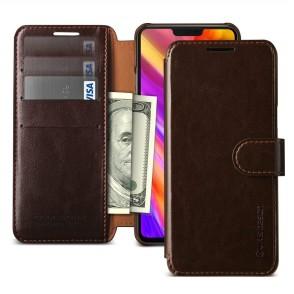 VRS Design Θήκη-Πορτοφόλι για LG G7 ThinQ - Dark Brown (200-103-353)