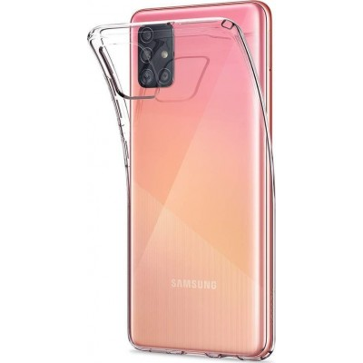 Spigen Θήκη Σιλικόνης Liquid Crystal Samsung Galaxy A51 - Cystal Clear (ACS00564)