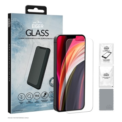 Eiger iPhone 12 / 12 Pro 2.5D GLASS Clear (EGSP00625)