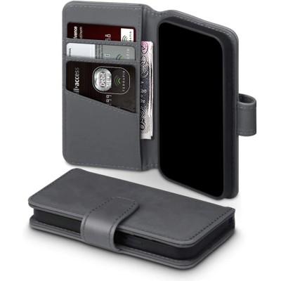 Terrapin Δερμάτινη Θήκη Πορτοφόλι Apple iPhone 12 Mini - Grey (117-133-003)