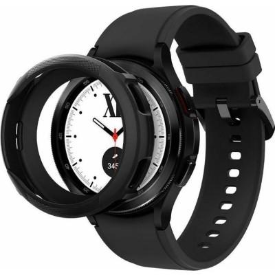 Spigen Liquid Air Θήκη Σιλικόνης - Samsung Galaxy Watch Classic 4 42mm - Matte Black (ACS03141)