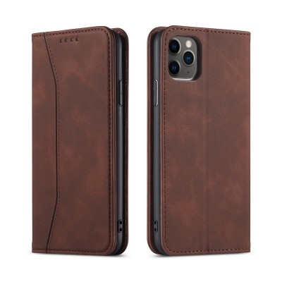 Bodycell Θήκη PU Leather Book iPhone 12 / 12 Pro - Dark Brown (200-107-197)