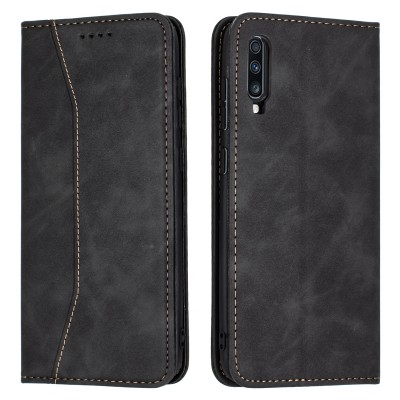 Bodycell Book Case Pu Leather For Samsung Galaxy A70 Black (04-00332)