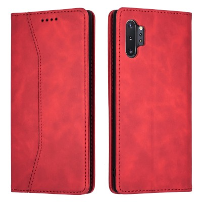 Bodycell Book Case Pu Leather For Samsung Galaxy Note10 Plus Red (04-00363)