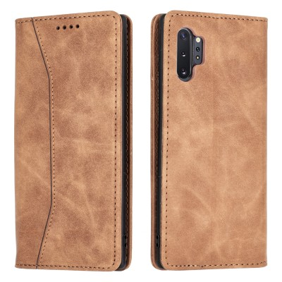 Bodycell Book Case Pu Leather For Samsung Galaxy Note10 Plus Brown (04-00364)