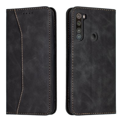 Bodycell Book Case Pu Leather For Xiaomi Redmi Note 8 Black