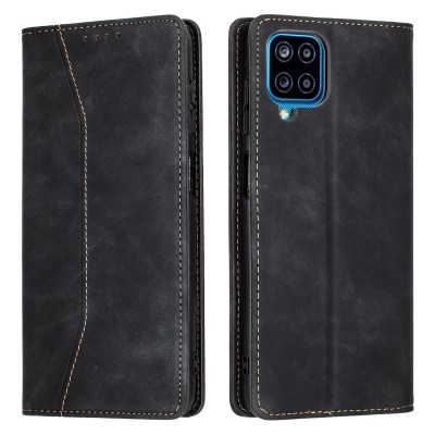 Bodycell Book Case Pu Leather For Samsung A12 Black (04-00619)