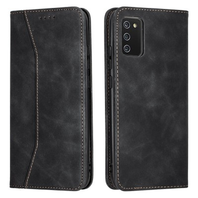 Bodycell Book Case Pu Leather For Samsung Galaxy A02s Black (04-00634)