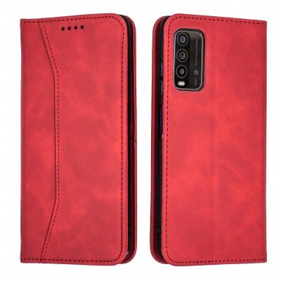 Bodycell Book Case Pu Leather For XIAOMI Redmi 9T Red