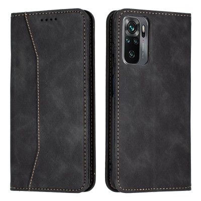 Bodycell Book Case Pu Leather For Xiaomi Redmi Note 10/Note 10s Black
