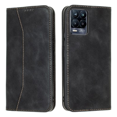 Bodycell Book Case Pu Leather For Realme 8/8 Pro Black (04-00695)