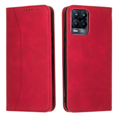 Bodycell Book Case Pu Leather For Realme 8/8 Pro Red