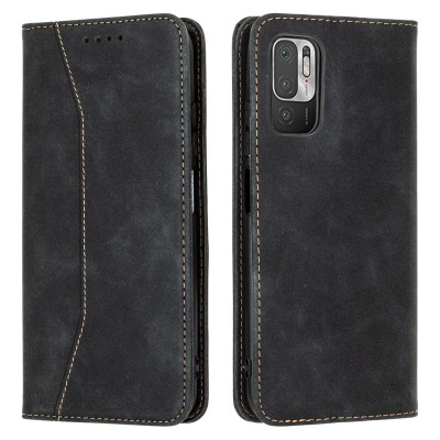Bodycell Book Case Pu Leather For Xiaomi Redmi Note 10 5G Black ( 04-00698)
