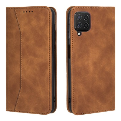 Bodycell Book Case Pu Leather For Samsung Galaxy A22 4G Brown (200-108-560)