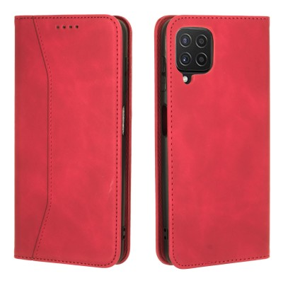 Bodycell Book Case Pu Leather For Samsung Galaxy A22 4G Red (200-108-559)