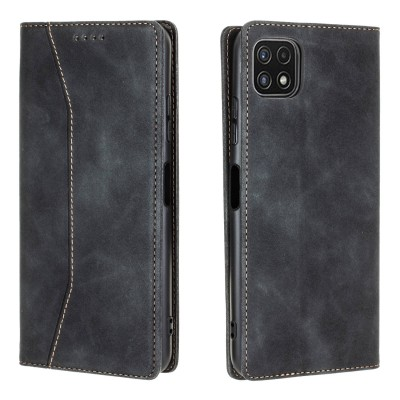 Bodycell Book Case Pu Leather For Samsung Galaxy A22 5G Black (200-108-563)