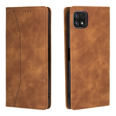 Bodycell Book Case Pu Leather For Samsung Galaxy A22 5G Brown (200-108-562)