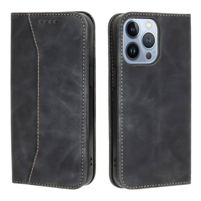 Bodycell Book Case Pu Leather For iPhone 13 Pro Max Black 200-108-572)