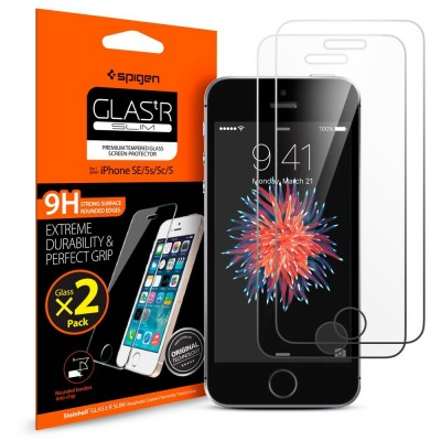 Spigen iPhone 5/5s/SE Screen Protector GLAS.tR SLIM (041GL20166)-2 τεμάχια