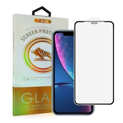T-Max Premium 3D Tempered Glass Full Glue Fluid Despensing - Αντιχαρακτικό Γυαλί Οθόνης Apple iPhone 11 / XR - Black (05-00146)