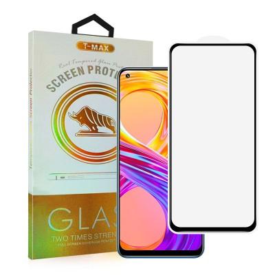 T-Max Premium 3D Tempered Glass Full Glue Fluid Despensing - Αντιχαρακτικό Γυαλί Οθόνης Realme 8/8 Pro - Black (05-00161)
