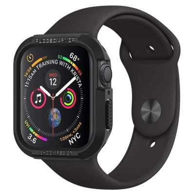 Spigen Apple Watch 4 44mm Case Rugged Armor Black (062CS24469)
