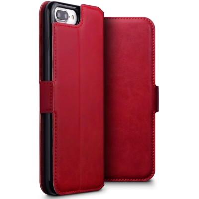 Terrapin Low Profile Δερμάτινη Θήκη - Πορτοφόλι iPhone 8 Plus / 7 Plus - Red