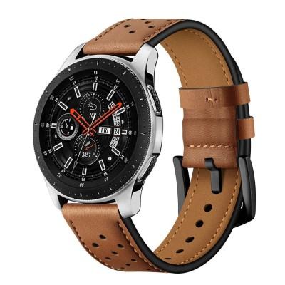 Δερμάτινο λουράκι καφέ για Samsung Galaxy Watch 3 45mm by Tech-Protect (200-105-906)
