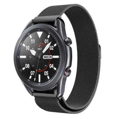 Tech-Protect Ανταλλακτικό Λουράκι Milaneseband για Samsung Galaxy Watch 3 45mm Black (200-105-907)