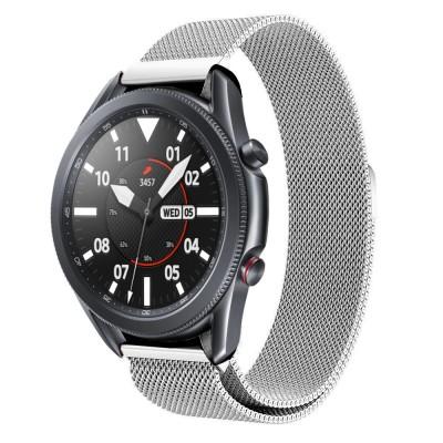 Tech-Protect Ανταλλακτικό Λουράκι Milaneseband για Samsung Galaxy Watch 3 45mm Silver (200-105-908)