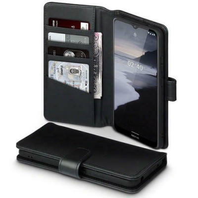 Terrapin Δερμάτινη Θήκη - Πορτοφόλι Nokia 2.4 - Black (117-001-326)