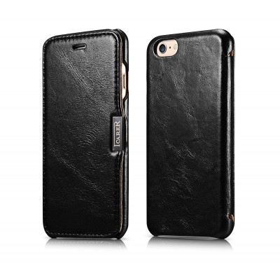 iCarer Vintage Series Side-Open Δερμάτινη Θήκη iPhone 6/6S - Black (RIP 612)
