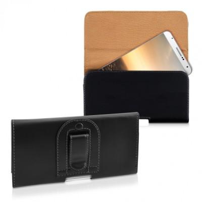 Θήκη κινητού με clip ζώνης για κινητά με οθόνη έως 5.5 inches μαύρη