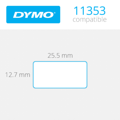 DYMO Multipurpose Labels 13mm x 25mm 2000 τεμ (11353)