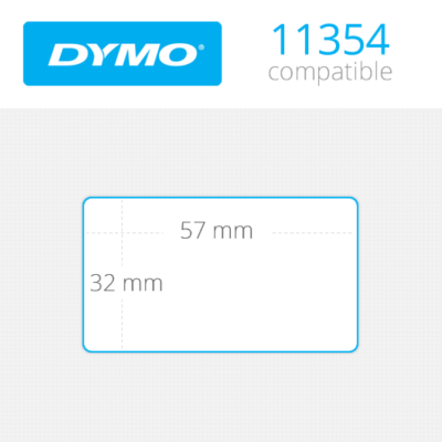 DYMO Multipurpose Labels 32mm x 57mm 1000 τεμ (11354)