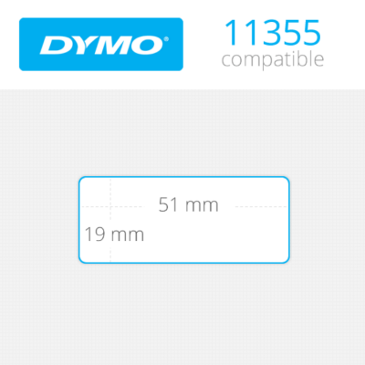 DYMO Multipurpose Labels 19mm x 51mm 500 τεμ (11355)