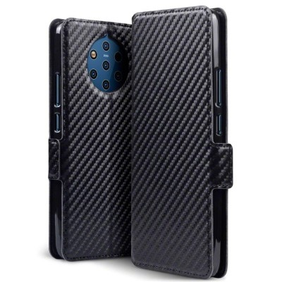 Terrapin Θήκη - Πορτοφόλι Nokia 9 PureView - Carbon Fibre Black (117-001-321)