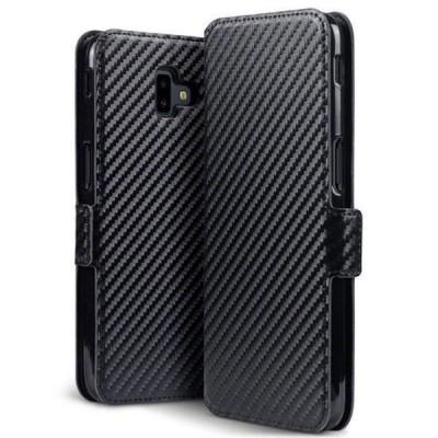 Terrapin Low Profile Θήκη - Πορτοφόλι Carbon Fibre Samsung Galaxy J6 Plus 2018 - Black