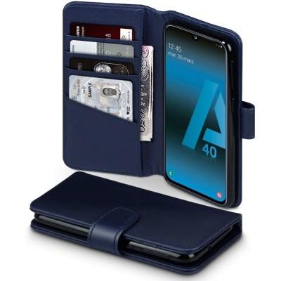Terrapin Δερμάτινη Θήκη - Πορτοφόλι Samsung Galaxy A40 - Blue (117-002a-198)