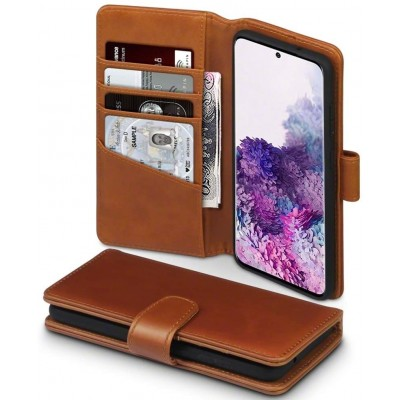 Terrapin Δερμάτινη Θήκη - Πορτοφόλι Samsung Galaxy S20 - Cognac (117-002a-225)