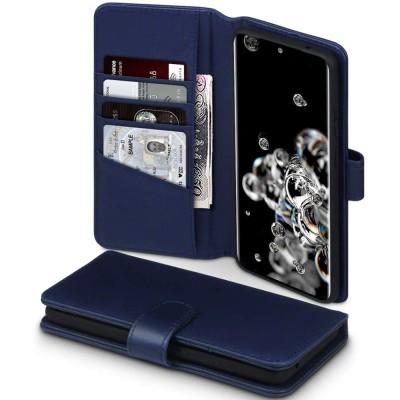 Terrapin Δερμάτινη Θήκη - Πορτοφόλι Samsung Galaxy S20 Ultra - Blue (117-002a-250)
