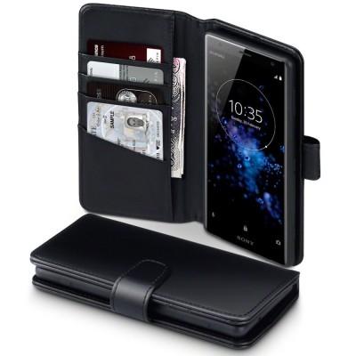 Terrapin Δερμάτινη Θήκη - Πορτοφόλι Sony Xperia XZ2 - Black