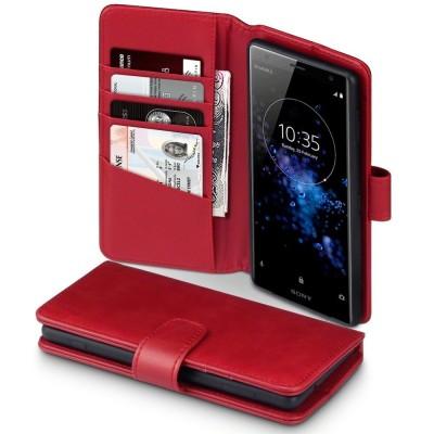Terrapin Δερμάτινη Θήκη - Πορτοφόλι Sony Xperia XZ2 - Red