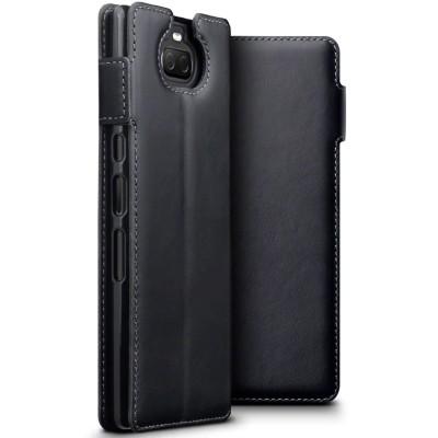Terrapin Low Profile Δερμάτινη Θήκη - Πορτοφόλι Sony Xperia 10 Plus - Black (117-005-650)
