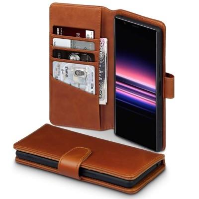 Terrapin Δερμάτινη Θήκη - Πορτοφόλι Sony Xperia 5 - Brown (117-005-676)