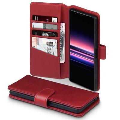 Terrapin Δερμάτινη Θήκη - Πορτοφόλι Sony Xperia 5 - Red (117-005-678)