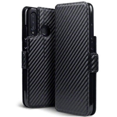 Terrapin Θήκη - Πορτοφόλι Huawei P30 lite - Black Carbon Fibre Texture (117-083-228)